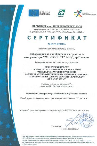Certificate IP-179